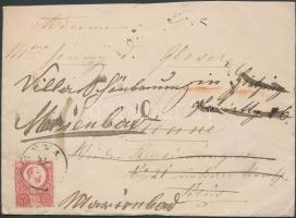 1874 Réznyomat 5kr levélen DÉVA - Bécsbe, többszörösen továbbküldve / Mi 10 on cover from DEVAto Vienna, several times redirected