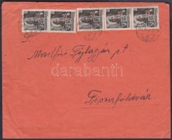 1946 (15.díjszabás) Távolsági levél Betűs(III) 5xTávolsági levél/18f bérmentesítéssel