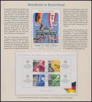 1999 50 éves a Német Szövetségi Köztársaság blokk elsőnapi bélyegzéssel Mi 49