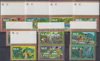 1979 Forgalmi: gazdaság sor (közte ívszéli bélyegek) Mi 224-233