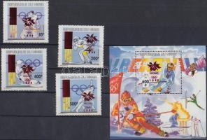 1996 Téli Olimpiai Játékok, Nagano sor Mi 1215b-1218b + blokk 89b