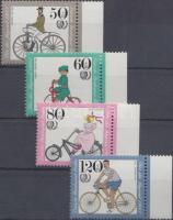 Historical bikes, International Youth Year margin set, Történelmi biciklik, nemzetközi ifjúsági év ívszéli sor