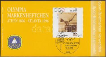 1996 Sporthilfe: 100 éves az Újkori Olimpia 3 db bélyegfüzet 1-1 hatostömbbel Mi 1861-1863