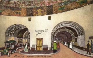 Hamburg, Elbtunnel / Elbe Tunnel