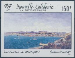 Festmények vágott bélyeg, Paintings imperforated stamp