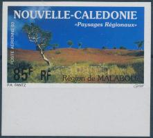 Landscapes imperforated margin stamp, Tájak vágott ívszéli bélyeg
