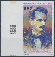 Henri Rochefort, French writer and politician imperforated margin stamp, Henri Rochefort, francia író és politikus ívszéli vágott bélyeg
