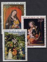 1970 Mária festmények Mi 217-219