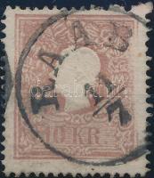 "10kr II. with plate variety, perforation errors, 10kr II. nyomatkimaradás jobb oldalon, kimaradt foglyuk ""RAAB"" Signed: Ferchenbauer"
