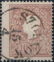 1858 10kr II. elfogazva / shifted perforation SZOLNOK Signed: Ferchenbauer