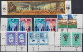 1993-1994 Nature conservation and human rights 12 diff. stamps + 1 block of 4, 1993-1994 Környezetvédelem és emberi jogok 12 db bélyeg + 1 db négyescsík