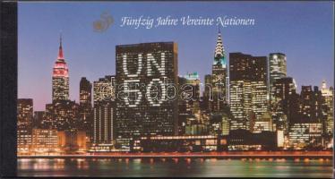 50th anniversary of UN stampbooklet, 50 éves az ENSZ bélyegfüzet