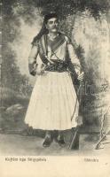 Shkodra, albán folklór, fegyveres, Kujtim nga Shqypenia / Albanian folklore from Shkoder (Shkodra), militant