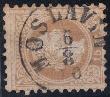 """15kr light brown """"MOSLAVINA"""" (Gudlin 600p) (thin paper), 15kr világosbarna  """"MOSLAVINA"""" (Gudlin 600p) (papírelvékonyodás)"""