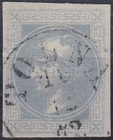 """Newspaper stamp, bluish gray with nice margins """"TOLNA"""", Hírlapbélyeg kékesszürke, teljes / jó szélekkel """"TOLNA"""""""