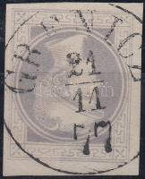 "Newspaper stamp, gray with nice margins, with watermark ""GRENICZ"" (Gudlin 800p), Hírlapbélyeg, szürke, szép szélekkel, vízjellel (Gudlin 800p)"