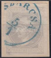 """Newspaper stamp with nice margins, blue """"SZÁRCSA"""" (Gudlin 500p), Hírlapbélyeg teljes / szép szélekkel kék """"SZÁRCSA"""" (Gudlin 500p)"""