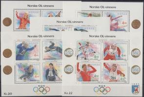 1989-1993 Téli Olimpia, Lillehammer 1994 I-V blokk Mi 12, 14, 16, 17, 19