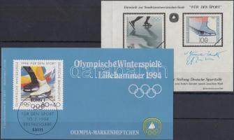 1994 Téli Olimpia, Lillehammer bélyegfüzet Mi 1717