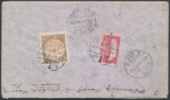 1926 (16. díjszabás) Távolsági ajánlott levél Madonna és Parlament bérmentesítéssel / Registered cover