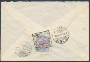 1925 (15. díjszabás) Távolsági levél Koronás Madonna 2000K bérmentesítéssel / Domestic cover