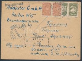 1934 Ajánlott levél Berlinbe / Registered cover to Berlin