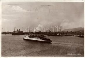 Messina, port, steamship