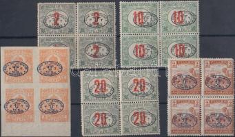Debrecen 5 klf négyestömb (19.200) Bodor, Flasch vizsgáló jelekkel (foghibák)