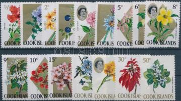 1967 Virágok sor, záróértékek nélkül Mi 152-167 x