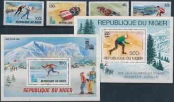 1976/1980 Téli olimpia sor záróérték nélkül Mi 700-703 + 2 blokk Mi 12, 28