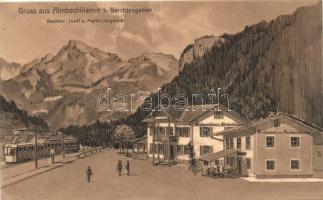 Almbachklamm bei Berchtesgaden, Gasthaus / guest house and restaurant, tram