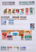 Sport gyűjtemény maradvány sok teljes, postatiszta sorral, néhány blokkal 24 lapos A4-es LINDNER berakóban
