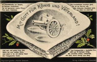 Mit Gott für König und Vaterland! Erinnerung an den Weltkrieg, Souain Perthes / WWI Military, cannon, propaganda, Verlag v. K. Guttermann, I. világháborús német katonai propaganda, Verlag v. K. Guttermann