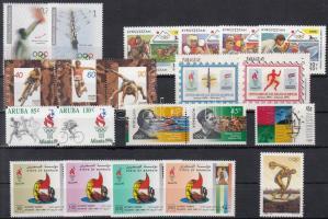 Summer Olympics, Atlanta 21 diff stamps with sets and 2 relations, Nyári olimpia, Atlanta 21 klf bélyeg, benne sorok és 2 összefüggés