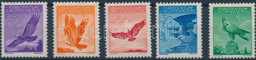 1934 Forgalmi, madarak sor Mi 143-147 (záróérték falcos)