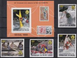 1988 Nyári olimpia, Szöul vágott sor Mi 1049-1052 + vágott blokk 53