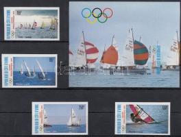 1987 Olimpia előtti év vágott sor Mi 950-953 + vágott blokk 29