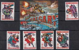 1987 Téli olimpia, Calgary vágott sor Mi 621-624 + vágott blokk 49 B