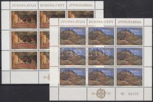 Europa CEPT, Landscapes mini sheet set, Europa CEPT, Tájak kisív sor
