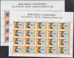 1978 Europa CEPT, Történelmi épületek kisív sor Mi 161-162