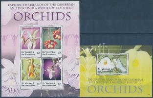 Orchids minisheet + block, Orchideák kisív + blokk