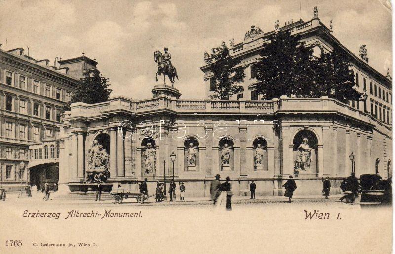 Vienna, Wien I. Archduke Albrecht statue