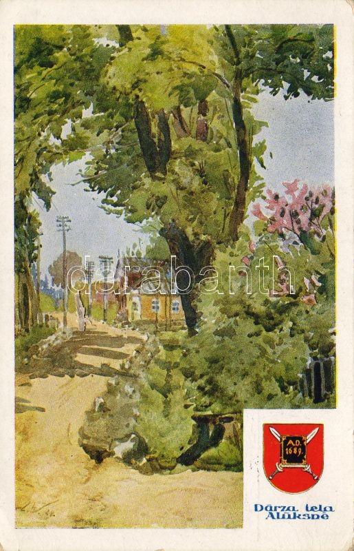 Alüksne, Darza iela / Garden street s: E. Volfeila