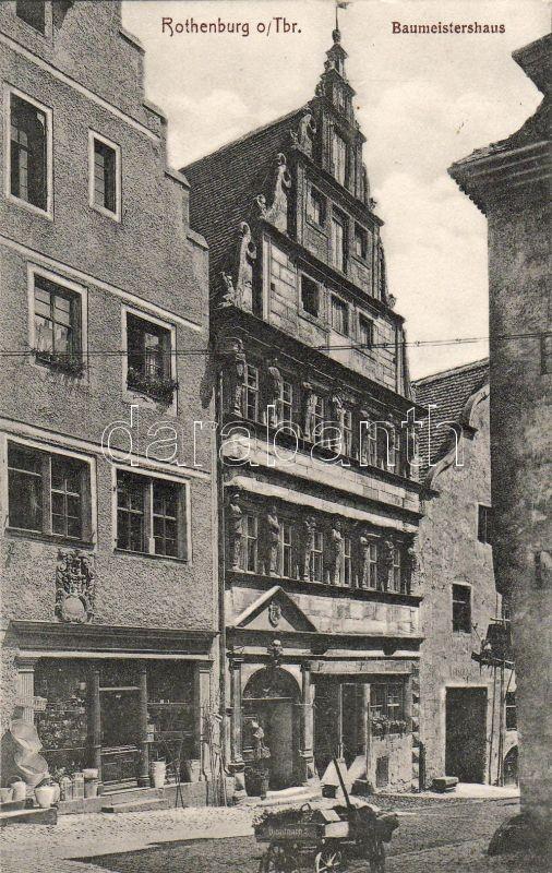 Rothenburg ob der Tauber, Baumeisterhaus, guest house, Dienstmann's chariot