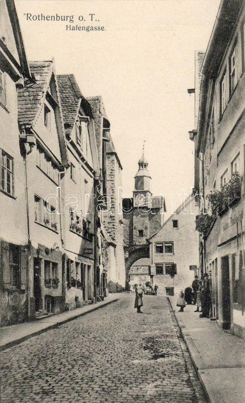 Rothenburg ob der Tauber, Hafengasse / street