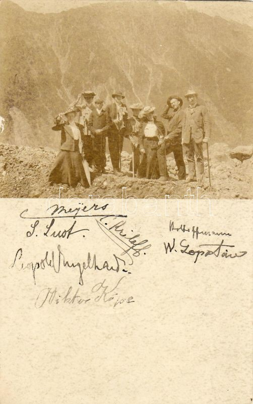 Trip to the mountains, signed photo