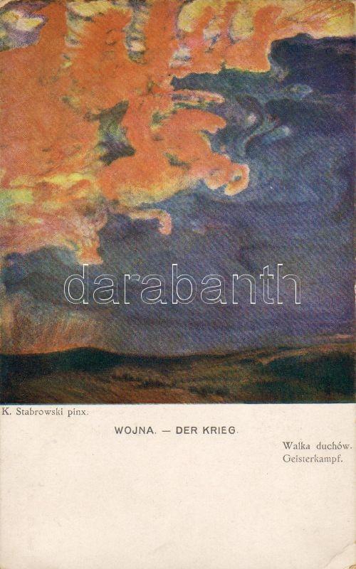 'Wojna, Walka duchów' / 'War, battle spirit' pinx. K. Stabrowski, Háború, Harci szellem pinx. K. Stabrowski