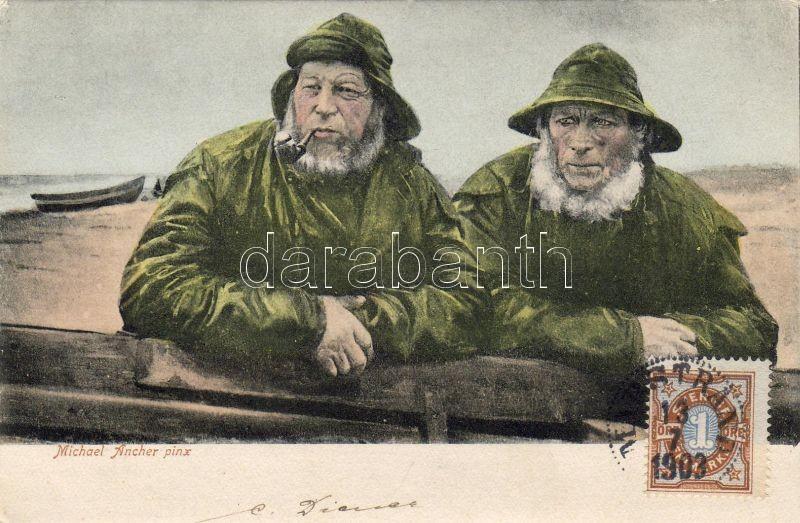 Fishermen pinx. Michael Ancher, Halászok pinx. Michael Ancher