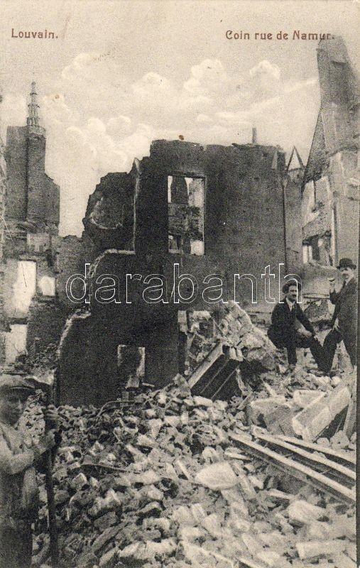 Leuven, Louvain; Coin rue de Namur / ruins