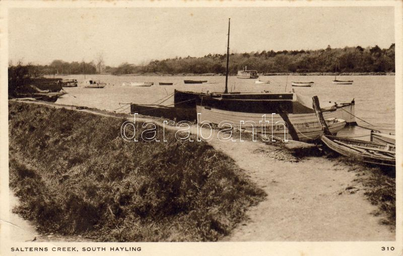 Hayling Island, Salterns creek, boats